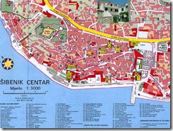 mapa Sibenik - clik para ver original